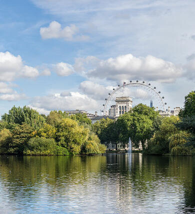 1280px-St_James's_Park_Lake_–_East_from_the_Blue_Bridge_-_2012-10-06