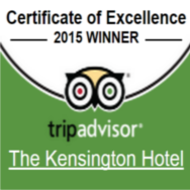 TripAdvisor Certificate of Excellence 2015 - Kensington
