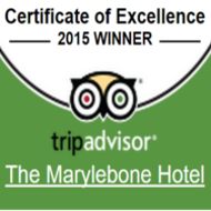 TripAdvisor Certificate of Excellence 2015 - Marylebone