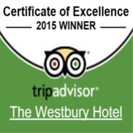 TripAdvisor Certificate of Excellence 2015 - Westbury