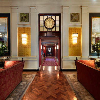 The Bloomsbury hotel's lobby