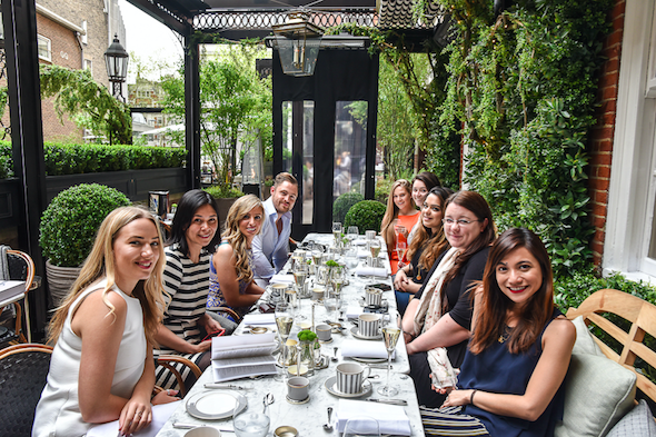 the bloomsbury and the dalloway terrace host blogging event afternoon tea with angie silver spoon