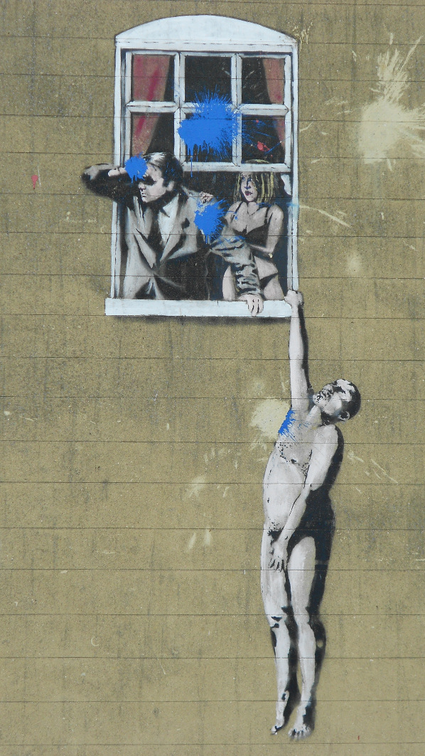 Banksy's artwork Well Hung Lover