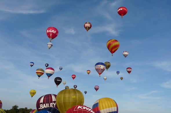 Hot Air Balloons over Bristol City
