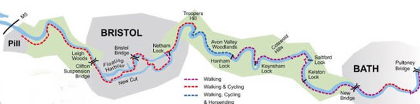 Map of the River Avon Trail, Bristol City