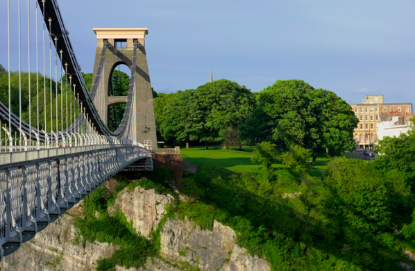 Clifton Suspension bridge in Bristol City