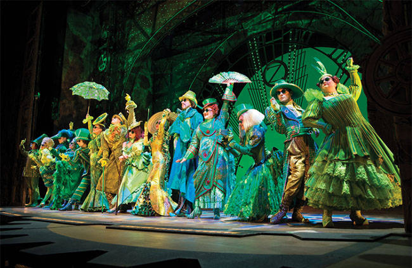 Cast from the musical Wicked