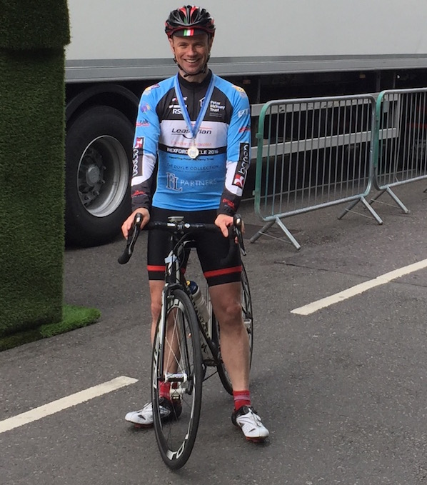 Eddie Keelan finished the Peter McVerry Cycle as part of the charity outreach of The Doyle Collection.