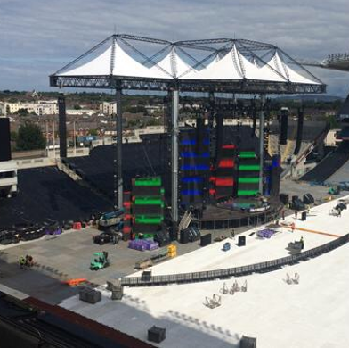Ed Sheeran stage