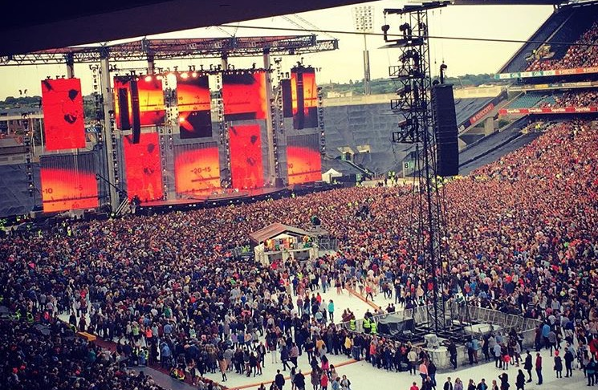 Crowds at the Ed Sheeran Dublin gig