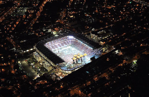 Aerial view of The Croke Park Stadium