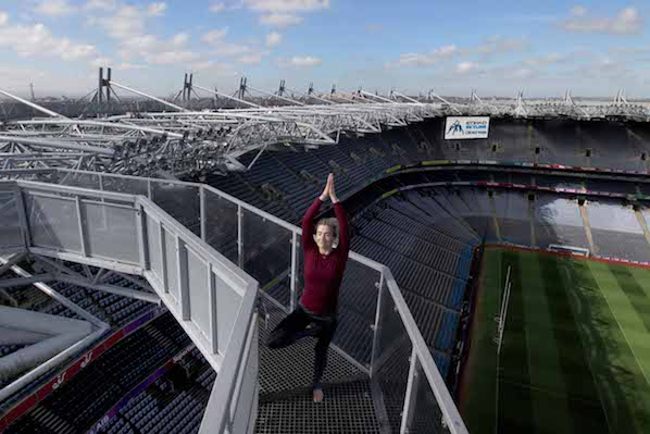 Dublin new yoga class on the rooftop of Croke Park, next to The Croke Park hotel ideal for gigs and matches in the city