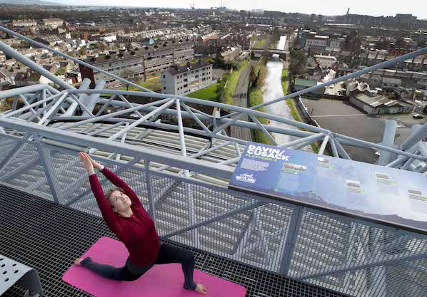 Take a yoga class in the sky at the Croke Park Etihad Skyline tour, where you can also take sunset walks and guided tours.