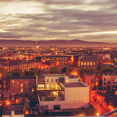 See the Dublin skyline at dusk Banner Image