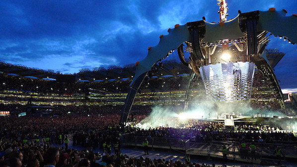 U2 took to the stage in 2009 as part of their 360 world tour, at Croke Park in Dublin. Croke Park has been home to many musical legends over the years.