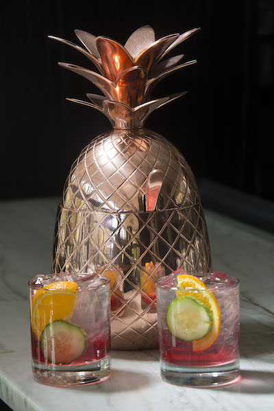 The summer punch bowl from the cocktail menu at Bar Dupont is the perfect way to celebrate in Washington D.C.