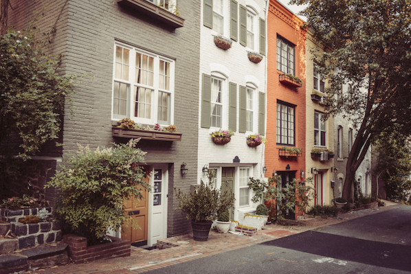Explore Georgetown in Washington for great shopping, restaurants and water front activities, as well as a sight from The Exorcist.