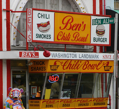 Ben's Chili Bowl is a Washington institution, where you can find the city's best budget food. The Dupont Circle Hotel is a short distance away.