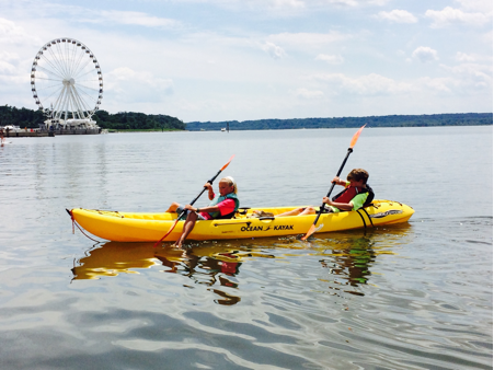 Kayaking on the Potomac River