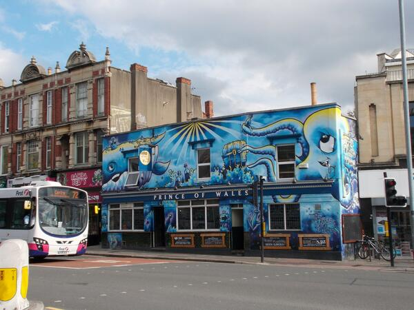 The Prince of Wales, Stokes Croft by Shrinkin'Violet
