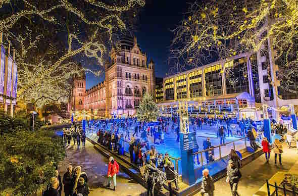 Ice rink at The Natural History Museum London