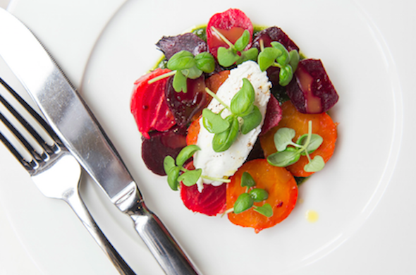 Roasted Baby Beets with Goats Curd