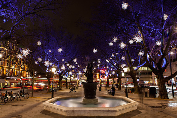 Streets of London at Christmas