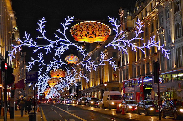 London's West End at Christmas