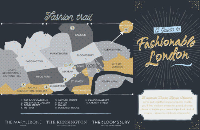 London Fashion Week Map 2015