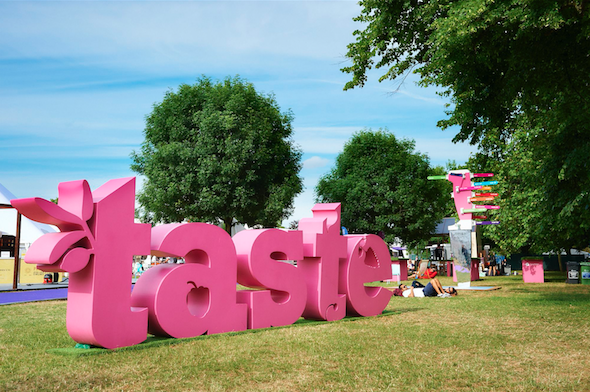the taste of london food festival in regents park with the marylebone hotel and the doyle collection