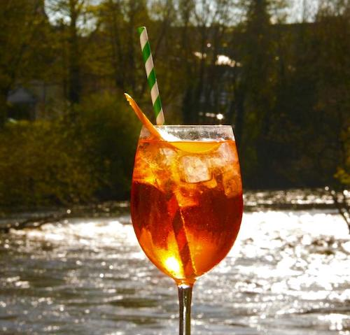 Aperol Spritz recipe from The River Lee hotel in Cork with open outside terrace on the waterside