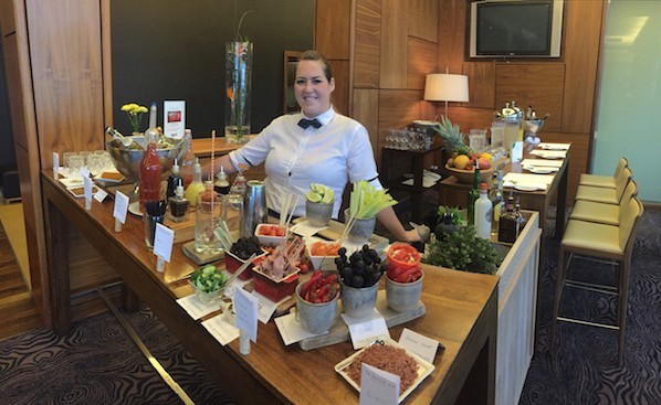 Make your own Bloody Mary at the DIY Brunch Bar in The River Lee, the best spot in Cork for a weekend brunch.