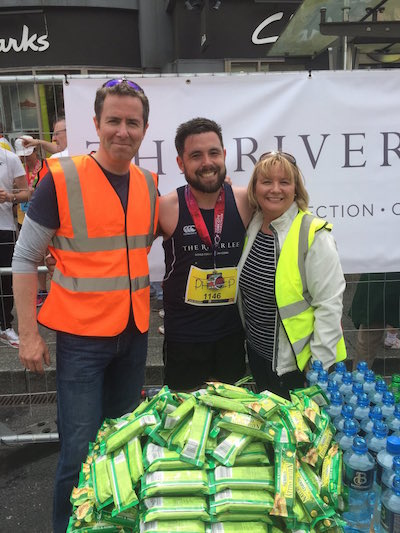 The team at the River Lee hotel in Cork participated in the Cork Marathon, with several members of the team joining in the fun.