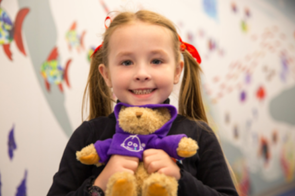 the great ormond street hospital charity fundraising with the doyle collection and the bloomsbury young girl with bear