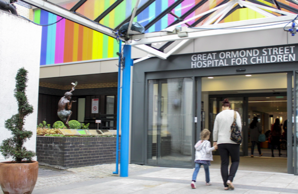 the great ormond street hospital charity fundraising with the doyle collection and the bloomsbury front exterior entrance