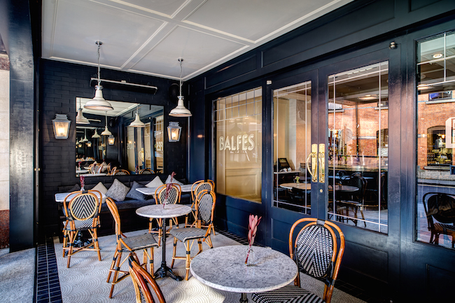 The terrace at Balfes is the perfect place for an al fresco lunch in Dublin, with great value specials each day.