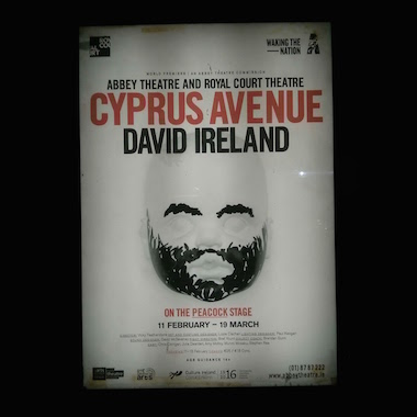 Cyprus Avenue at the Abbey Theatre, near The Westbury in Dublin.