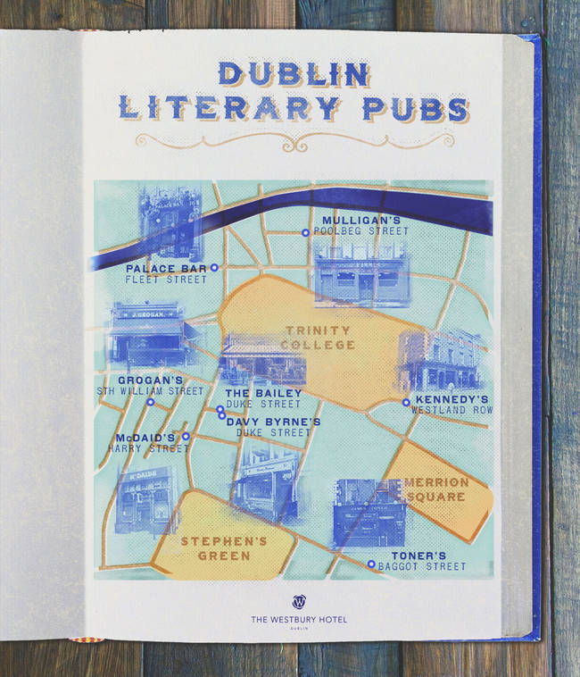 A Guide Map To The Literary Pubs Of Dublin Dublin Writers