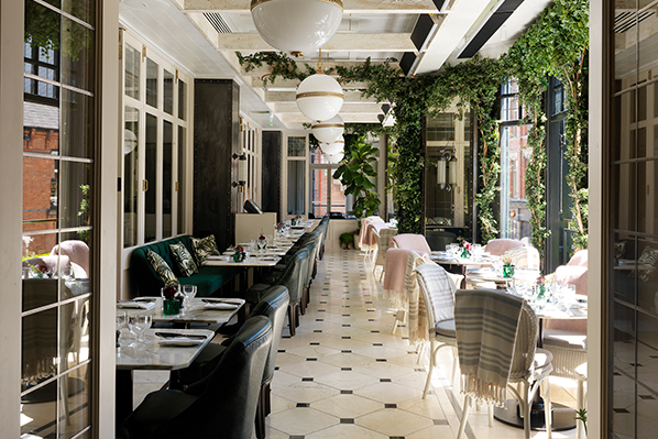 Experience the pleasure of dining al fresco while inside, in the newly renovated Wilde restaurant in the middle of Dublin city.