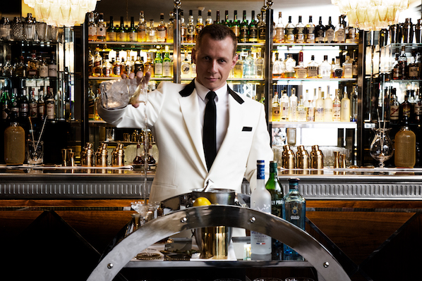 You'll find the best Martini in Dublin shaken up from the art deco martini trolley in the Sidecar bar in The Westbury