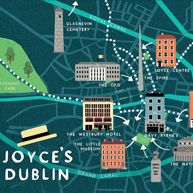 James Joyce Dublin Map - banner