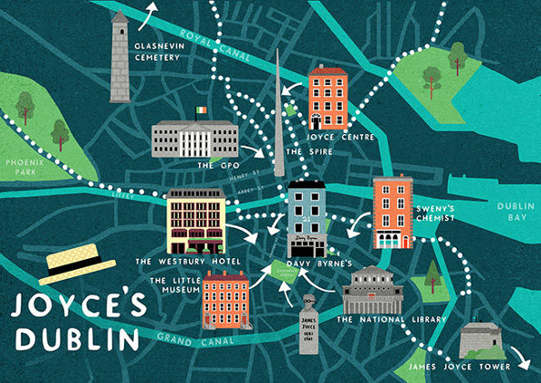 A Guide Map to The Dublin of James Joyce | The Doyle Collection