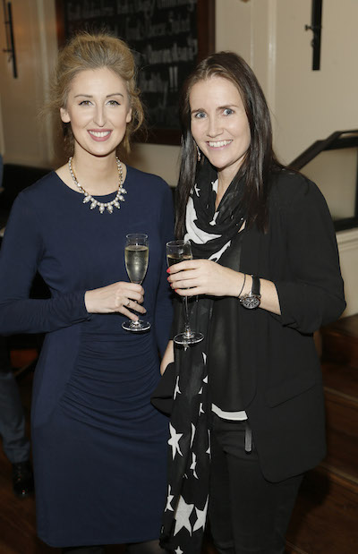 Grace Carroll and Tara Kelley attend the launch of Skinny Prosecco in Balfes, Dublin's premium brasserie and bar.