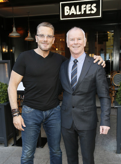 Paul Byrne and David Murray at the launch of Power Plates for Breakfast at Balfes in partnership with BodyByrne Fitness