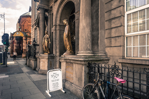 The Whitefriar Street Church is home to St Valentine, by The Westbury hotel in Dublin.
