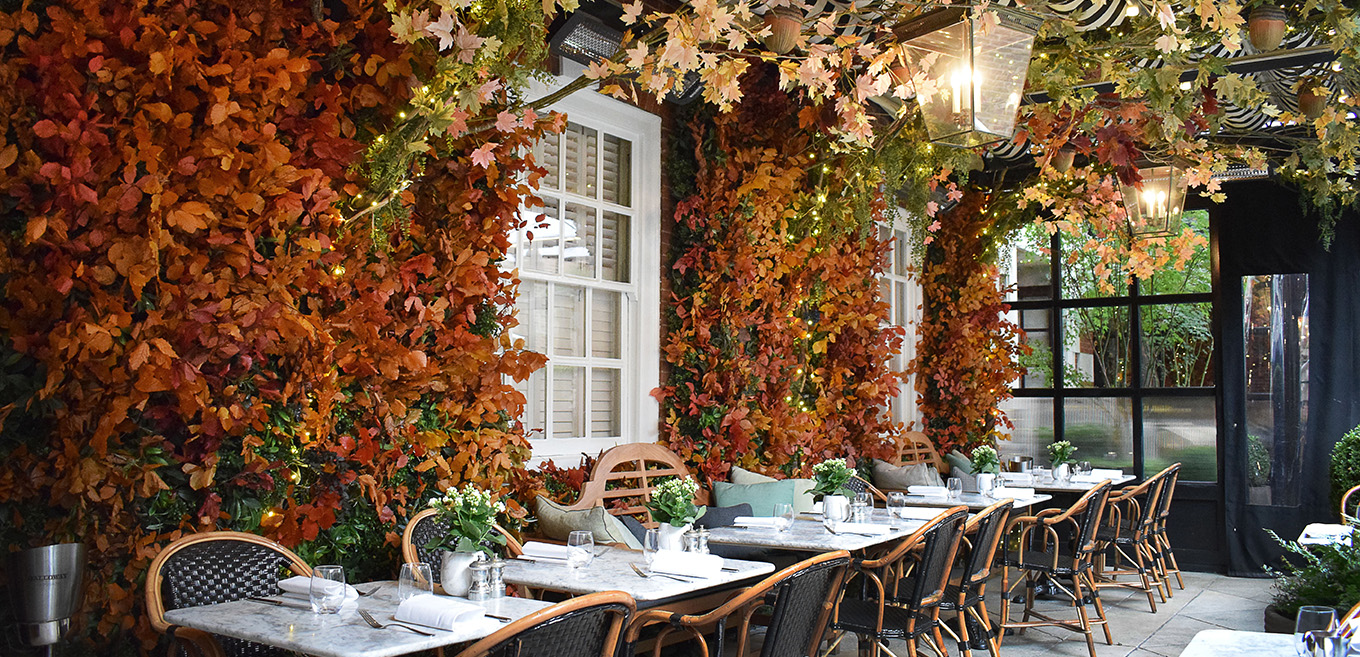 Autumn display at Dalloway Terrace