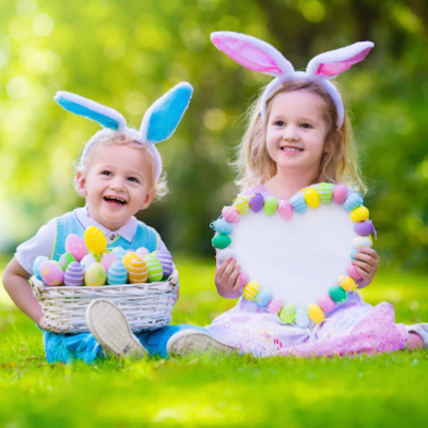 Children enjoying Easter in London