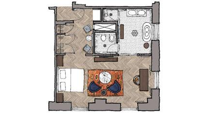 Floorplan of the Luxury Studio Suite