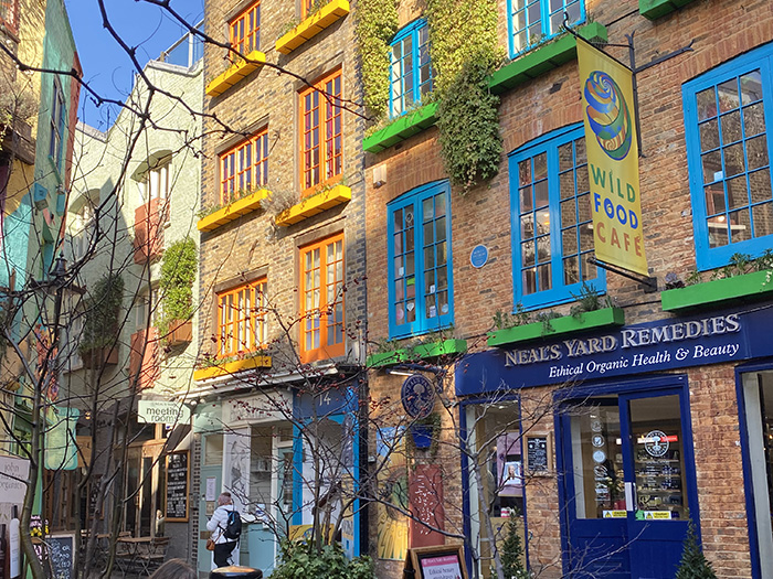 Exterior of Neal's Yard