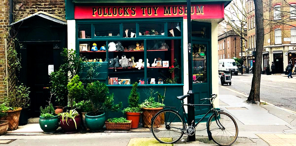 Pollocks Toy Museum store front